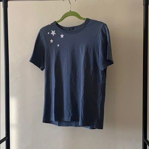 Like new MONROW Blue Tee with Stars